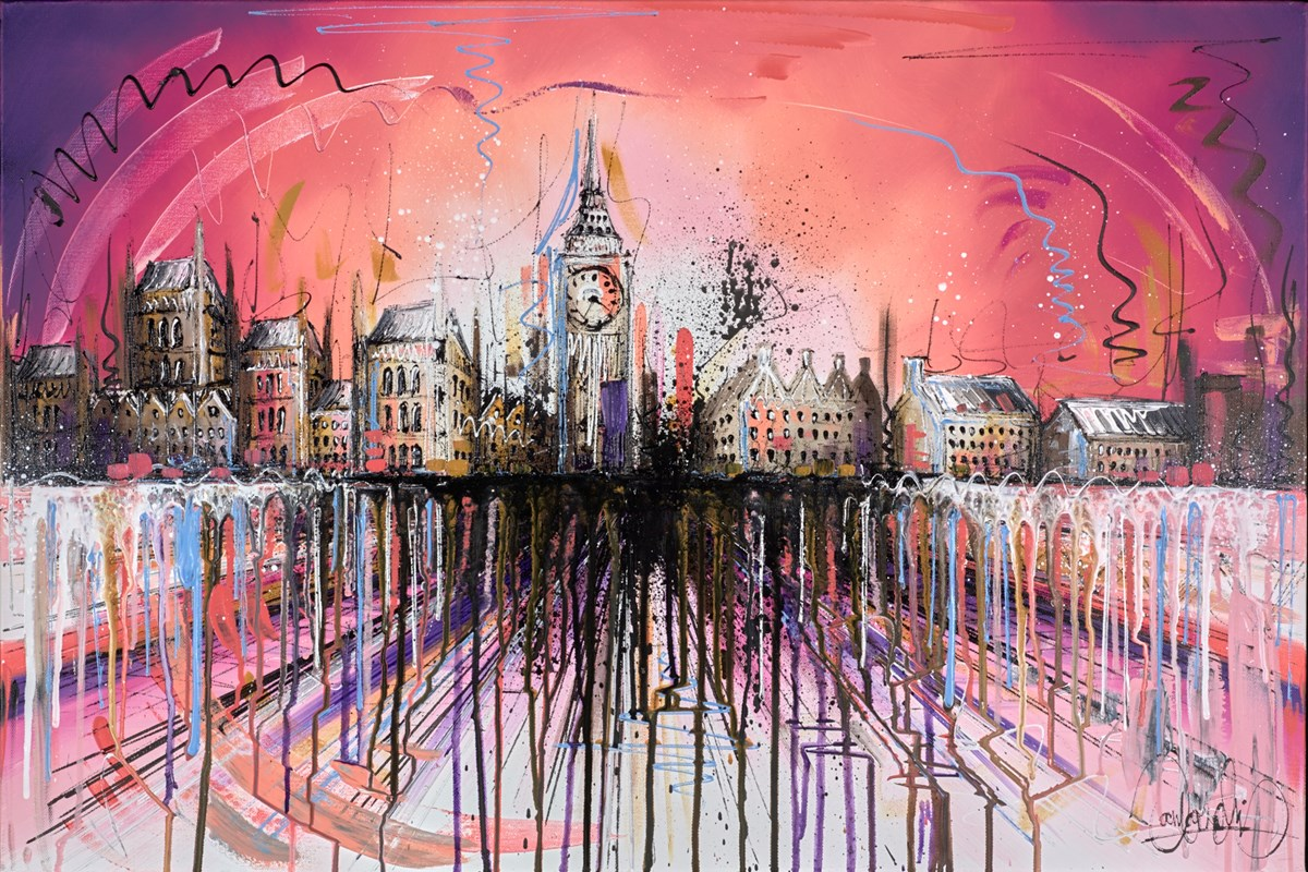 Rosy Glow III by samantha ellis -  sized 36x24 inches. Available from Whitewall Galleries